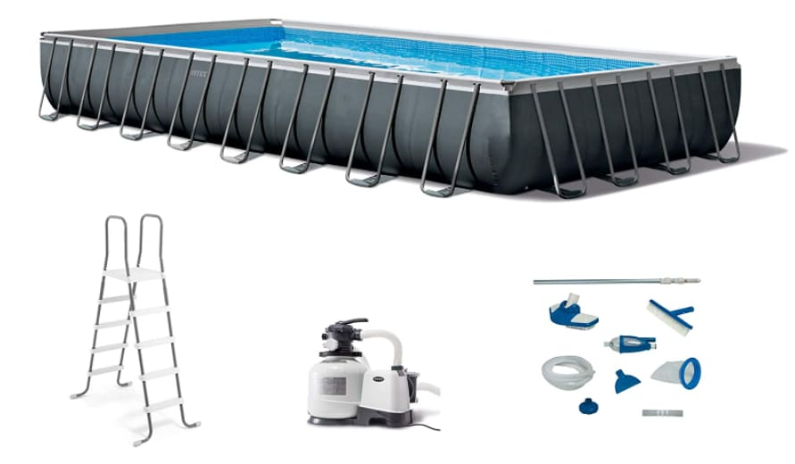 Intex 26373EH 32ft x 16ft x 52in Ultra XTR Frame Above Ground Rectangular Swimming Pool