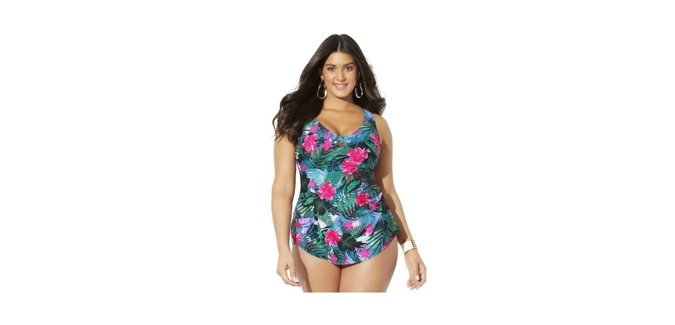 Swimsuits For All Women's Plus Floral Swimsuit